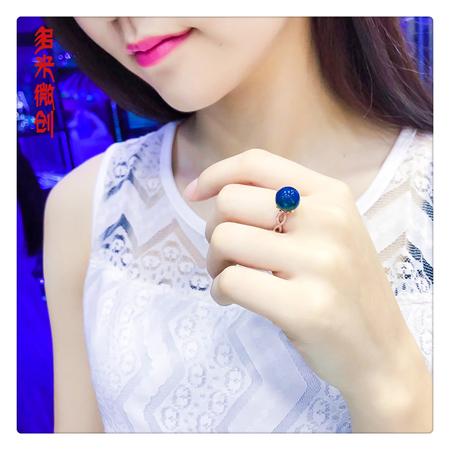 编号:A246M 新品18k南非足反钻石蓝珀戒指,净水天空蓝 戒指可以说是一身搭配的点睛之笔,无论是拿起咖啡杯的瞬间还是撩拨头发的细节,戒指都体现了你的品味