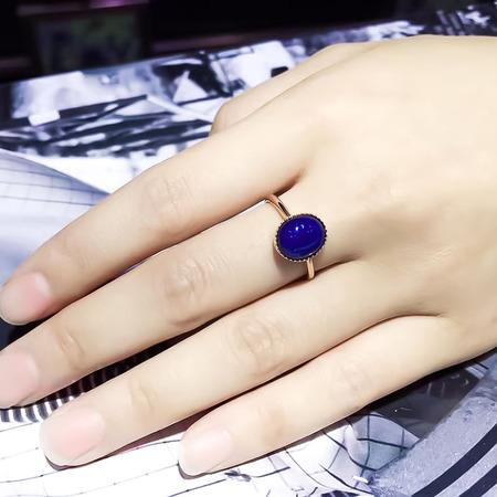 多米尼加蓝珀18k蓝珀戒指,顶级净水天空蓝 简单精致,戴在手上特别秀气,【多米微创】