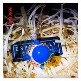 编号:C007M 18k南非足反钻石蓝珀吊坠,净水天空蓝 一件符合心意的项链,能给你的装扮增加一份意想不到的惊喜