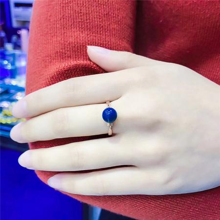 编号:A334M 蓝珀戒指,净水天空蓝 最百搭的经典简单款,上手很有气质美