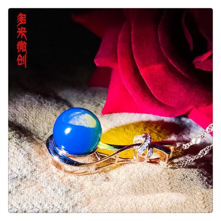编号:C106M 新品18k蓝珀吊坠,净水天空蓝,11mm珠珠[耶][耶] 超级魅惑蓝,彰显您的迷人魅力,你值得拥有