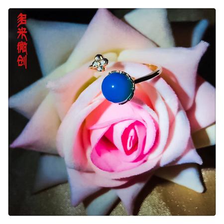 编号:A337M 新品18k南非足反钻石蓝珀戒指,净水天空蓝 小清新美款,超爱这一枚的,满满的爱意[爱心][爱心]