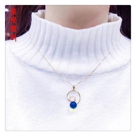 编号:C050M 18k南非足反钻石吊坠,净水天空蓝 精致美款[爱心] 独特魅力的美让人无法抵挡
