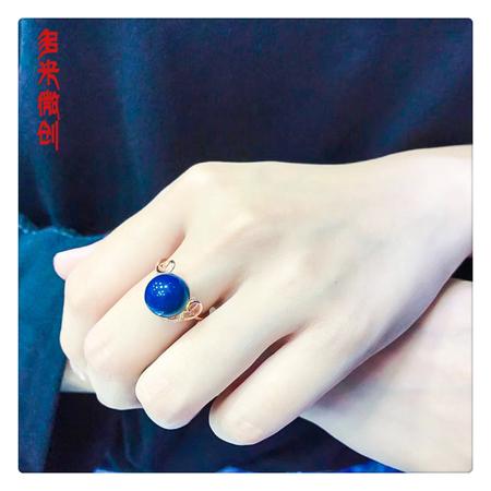 编号:A285M 新品18k南非足反钻石蓝珀戒指,净水天空蓝 优雅的设计,闪耀着纯净迷人的光芒,散发由内而外的魅力