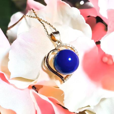 爱心多米吊坠,K金镶嵌,顶级5A多米珠子,佩戴非常漂亮